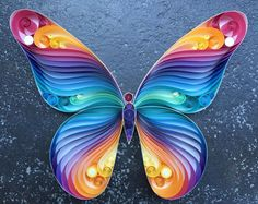 """Quilled Paper Art: """"Spread Your Wings & Fly, Butterfly"""""""