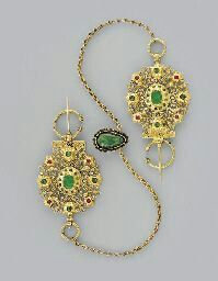 Traditional Arabian jewelry from Fez, Morocco