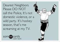 This is my husband every hockey season. I LOVE hockey but he loves to scream at the tv. Hockey Rules, Flyers Hockey, Blackhawks Hockey, Hockey Teams, Hockey Players, Hockey Stuff, Chicago Blackhawks, Caps Hockey, Montreal Canadiens