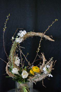 """Bouquet décoratif thème """"printemps"""".CFA Blagnac (France)."""