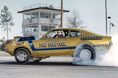Dick Loerh's Stampede Maverick P/S Ford Drag Team. Dodge Charger Models, Ford Maverick, Ford Classic Cars, Hot Rod Trucks, Vintage Race Car, Drag Cars, Car Ford, American Muscle Cars, Drag Racing