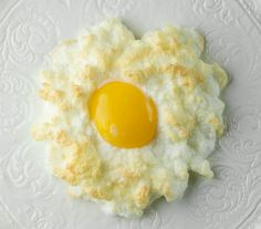 Eggs in Clouds: make a meringue with egg whites + parmesan, bake 3 minutes, then pop the yolk into the meringue and bake 3 more minutes