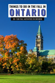 Are you looking for fun things to do in fall in Ontario? Here's your epic Ontario fall bucket list for the best things to do in Ontario in the fall! You'll discover the top Ontario fall activities, from fall road trips in Ontario to enjoy fall colours! I Ontario travel I places to go in Ontario in autumn I fall activities in Ontario I where to go in Ontario in the fall I autumn in Ontario I things to do in Ontario in October I things to do in Ontario in September I #Ontario #fall #Canada