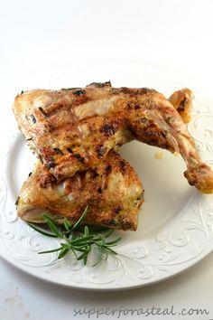 Rosemary Bricked Chicken, Bobby Flay