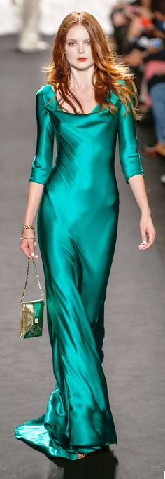 Lovely satin dress - great color and drape. Would feel luxurious on my body