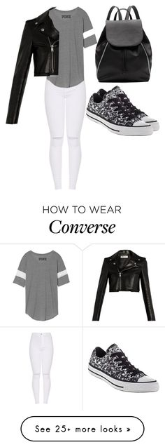 """Fashionably old movie"" by jmccauley-i on Polyvore featuring Witchery, Converse and Yves Saint Laurent"