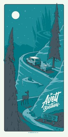 THE AVETT BROTHERS Flagstaff POSTER 2017 by Charles Crisler