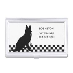#professional - #BUSINESS CARD HOLDER DOG TRAINER/white CARD