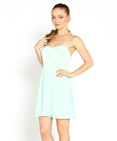 Look what I found on #zulily! Mint Sweetheart Rose Lace Sleeveless Dress by Marineblu #zulilyfinds