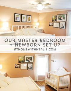 master bedroom and newborn set up - athomewithnatalie