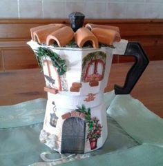 Caffettiera decorata