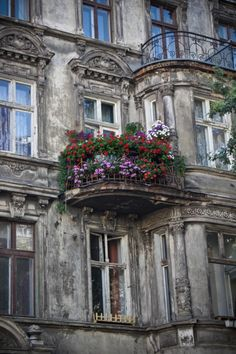 Wroclaw - Poland. A gorgeous, as of yet unrestored, apartment building.