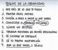 Reglas de la Creatividad