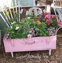 Sweet Magnolias Farm: The Marketplace on Monday ~ Whimisical Upcycled Garden Planters