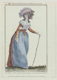 Gallerie des Modes et Costumes Français, 1787, qqq 367 : Jeune Elégante coeffée..., Pierre Charles Baquoy, 1787