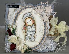 Audhilds Hobbyblogg Christmas Cards, Xmas, Christmas Ornaments, Copics, Homemade Cards, Decorative Plates, Card Making, Magnolias, Card Designs