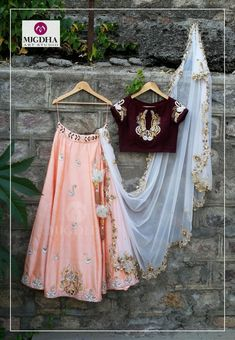 Take Look To A New Level As You Wear This Lehenga Choli . Designed With Absolute Perfection, This Raw Silk Lehenga Choli Will Keep You At Ease. This Peach Party Wear Lehenga Choli Looks Extremely Attr. Raw Silk Lehenga, Lehenga Choli, Indian Wedding Outfits, Indian Outfits, Indian Clothes, Indian Weddings, Indian Attire, Indian Wear, Indian India