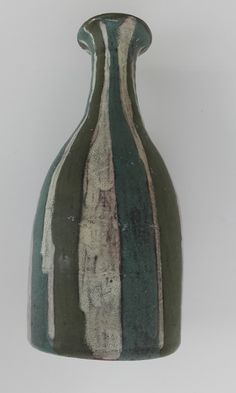Livia Gorka Striped vase with deep forest colors Forest Color, Deep Forest, Pottery Art, Hungary, Vase, Ceramics, Stone, Colors, Artwork