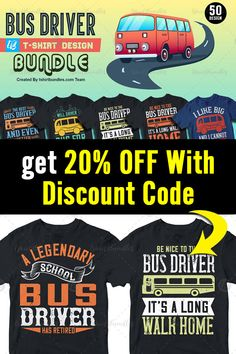 T Shirt Design Template, 50 And Fabulous, Bus Driver, Vector Format, Flyers, Design Bundles, Cool T Shirts, Funny Tshirts, Coupon