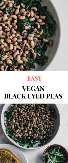 These new years vegan black eyed peas are a popular southern recipe. Its healthy easy can be made in an instant pot slow cooker or basic pot. Learn the benefits of making this vegetarian soup with vegan cornbread for your next dinner. Pea Recipes, Lentil Recipes, Brunch Recipes, Dinner Recipes, Fresh Black Eyed Peas Recipe, Black Eyed Peas Recipe Vegetarian, Vegan Cornbread, Vegan Lunches, Vegan Foods