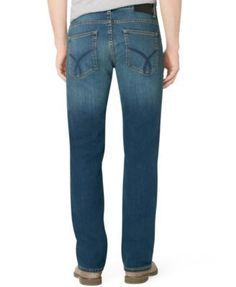 Calvin Klein Jeans Men's Straight Fit Jeans - Blue 34x30