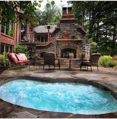 Beautiful Backyard area from a brick house-SR
