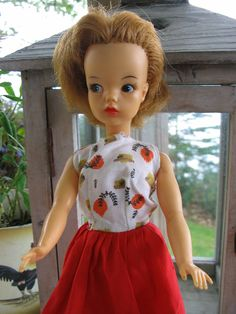"Vintage 1960s Tammy Doll .... This is the doll I had ~ Her name was ""Tammy"" from IDEAL .... she was not associated with ""Barbie"" at all .... I am sure that mine was maybe 4 or so years newer than this version , mine had longer hair .... once in a blue moon a ""Barbie""outfit might fit her (""Barbie"" was thinner ... man , just like real life !!) .... Anyway , this was my first grown-up doll after a babydoll =)"