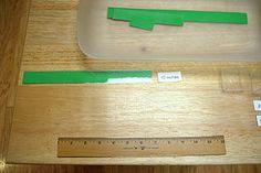 Using a Ruler - MontessoriAlbum