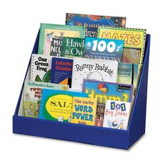 Organize any arts and crafts area with the Classroom Keepers Book Shelf. Sturdy corrugated construction is perfect for storing books, DVDs, magazines and more.