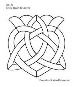 Celtic Heart Stained Glass Pattern