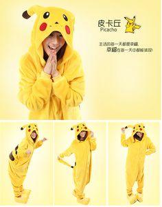 Pokemon go cosplay pikachu cosplay flannel animal onesie pyjamas costume Pikachu Pajamas, Onesie Pajamas, Pyjamas, Adult Costumes, Cosplay Costumes, Animal Pajamas, Halloween Dress, Children In Need, Matching Outfits