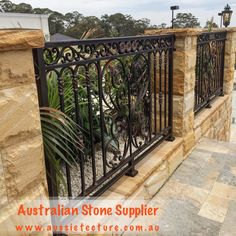Natural stone supplier - Aussietecture - Choices made easy! Sandstone Cladding, Natural Stone Cladding, Sandstone Wall, Sandstone Paving, Landscape Design, Garden Design, House Design, Stone Supplier, Wall Cladding