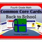 Back to School Math Common Core Task Cards is a book filled with Back to School themed cards that you can use to create fun activities.  They can b...