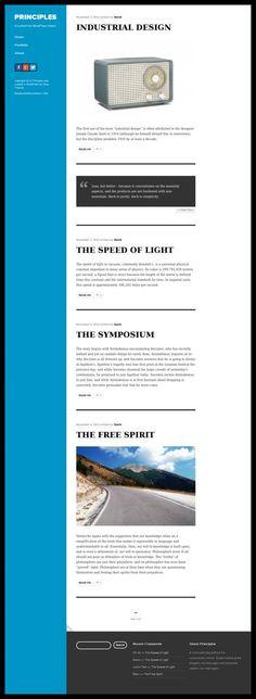 Principles WordPress Theme - Obox Design