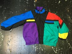 Vintage 80s Head Colorblock Nylon Windbreaker Jacket Men's XL Tennis Casuals