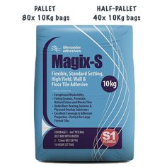 Magix-S by Tilemaster is a revolutionary, flexible, standard setting, cement based wall and floor tile adhesive with exceptional workability and adhesion properties. We include our comprehensive and much admired Free Delivery 2-3 working days. We love #tilemaster #magixs #palletdeals #tileadhesive #freedelivery We always are available to custom deals so contact us any time you're after a great deal on Tilemaster! Underfloor Heating Tiles, Electric Underfloor Heating, Adhesive Tiles, Vinyl Tiles, Concrete Bricks, Cement, Stone Tile Flooring, Large Format Tile