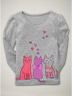 glitter graphic cats grey 10.00 Moldes De Roupas, Roupas De Menina,  Estampas, Meninas da5c5d73f2