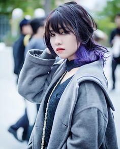 CustomDesignNine.com #Blacknpurple, #Hnbmg, #Lookbook, #Ombre, #Punkfashion, #Purplehair, #Wphotography