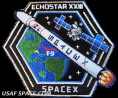 NEW ECHOSTAR XXIII 23 SPACEX ORIGINAL FALCON 9 Launch - SATELLITE Mission PATCH