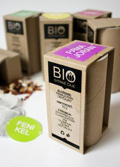 Eco-packaging for tea by Lucia Plevová, via Behance. Interesting #tea #packaging concept PD
