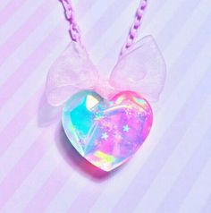 Holographic Heart Necklace- Pastel Aurora · Pastel Galaxyz · Online Store Powered by Storenvy Kawaii Jewelry, Kawaii Accessories, Cute Jewelry, Unicorn Room Decor, Unicorn Fashion, Magical Jewelry, Fantasy Jewelry, Pretty Wallpapers, Resin Crafts