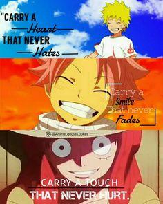 Naruto shippuden fairy tail one-piece Anime quotes Animes