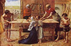 Cristo en casa de sus padres (1850), John Everett Millais