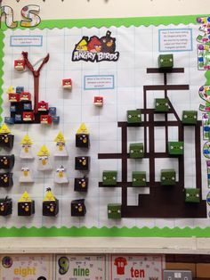 3D shapes display, Angry birds nets, Year 3
