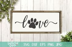 Love with a Paw Print svg Love with Pawprint svg Dog svg | Etsy