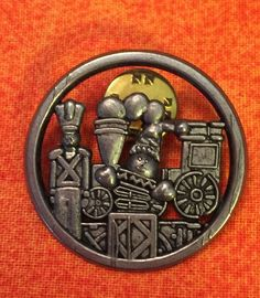 VGT 1998 HMK Hallmark Christmas Train Toy Soldier Jack in The Box Brooch Pinback | eBay