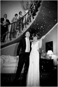 Confetti in the stair hall - Wedderburn Castle