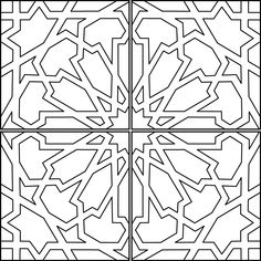 Go super subtle with this enduring classic tile design or ramp up the drama using our specialty glazes for major impact. Islamic Art Pattern, Arabic Pattern, Pattern Art, Arabic Design, Arabic Art, Motifs Islamiques, Motif Arabesque, Motif Art Deco, Graph Paper Art