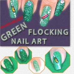 #NailCare #NailArtDesign #NailArt  Green Flocking Nail Art Design In just 5 easy and simple steps get this beautiful and attractive Green Flocking Nail Art today. An exquisite decoration for your nails, this fashionable design brings right in the centre of the league of urban fashionistas.  See More:- https://www.youtube.com/watch?v=LrZ7_JOjve0
