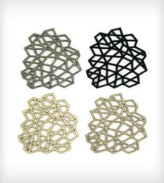 Mesh Coasters By Molly M Designs on Scoutmob Shoppe. Sweet laser cut coasters. $35